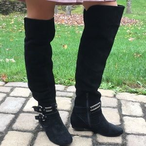 BCBG Suede over the knee boots